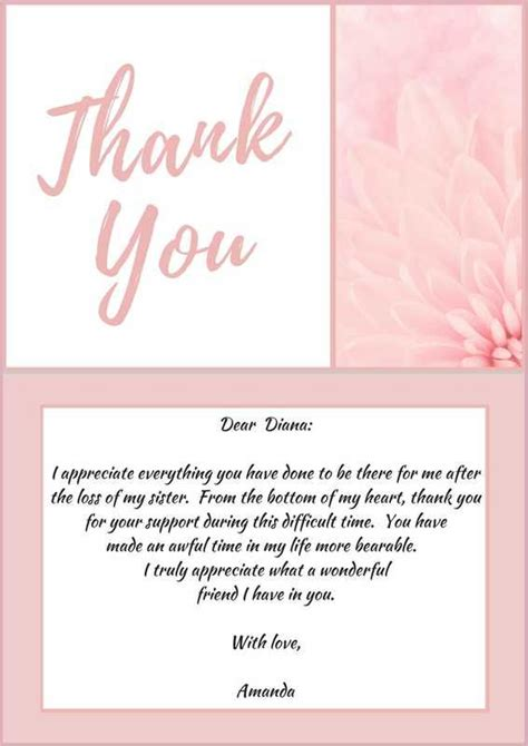 Support Letter Verses 25 Best Ideas About Funeral Thank You Notes On Sympathy Thank You Notes Funeral