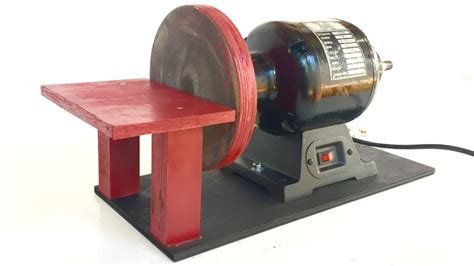 convert bench grinder to sander how to build a disc sander with a bench grinder youtube