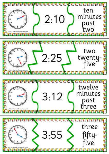 printable clock puzzle telling time puzzles 3 page 03 k 3 teacher resources