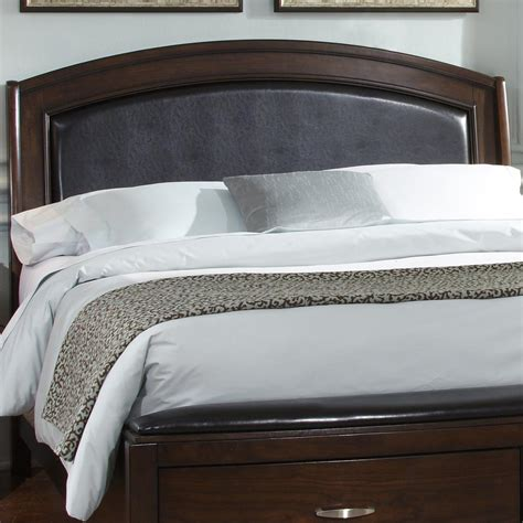 king leather headboard king platform leather headboard by liberty furniture
