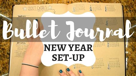 new year journal new year set up bullet journal