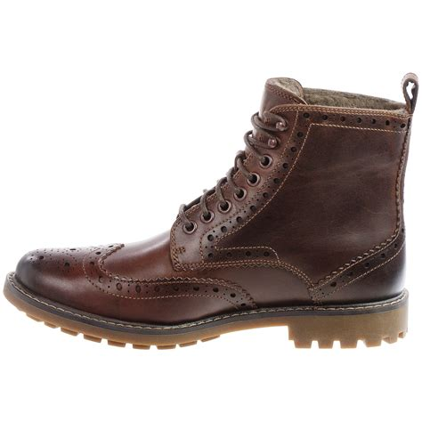 wing tip boots clarks montacute lord wingtip boots for save 43