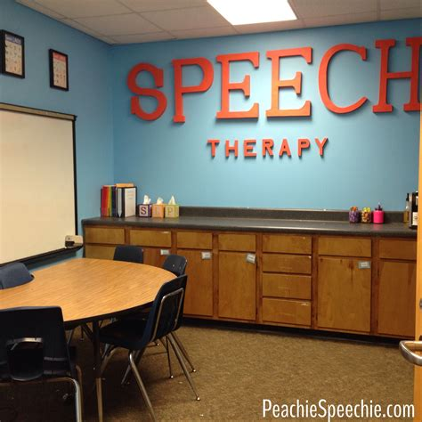 rooms y therapist gives him a quot peachie speechie quot room makeover speech room style