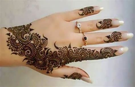 Henna Tattoo Finger Designs Easy