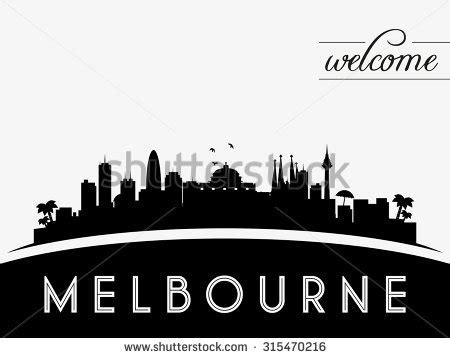 indonesia skyline silhouette black white design stock melbourne australia skyline silhouette black white stock