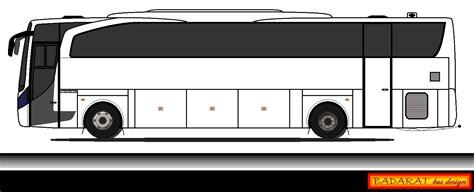 gambar desain bus sahabat belajar art desain bus 2d polosan