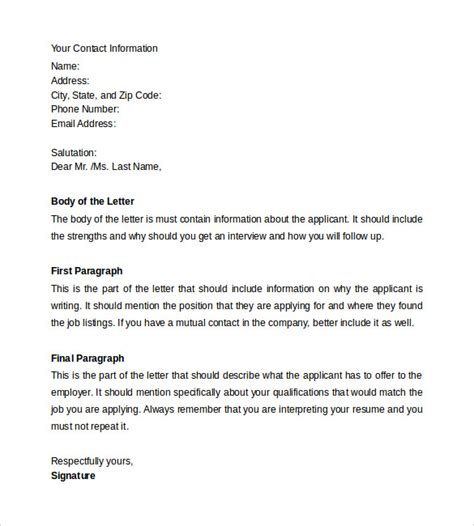 format of cover letter for resume resume cover letter 13 sles exles formats