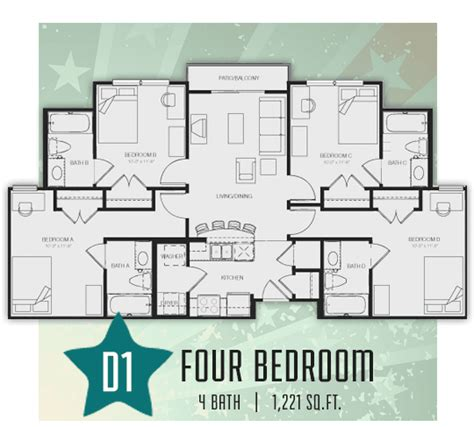 student accommodation floor plans republic at sam houston student apartments in huntsville tx