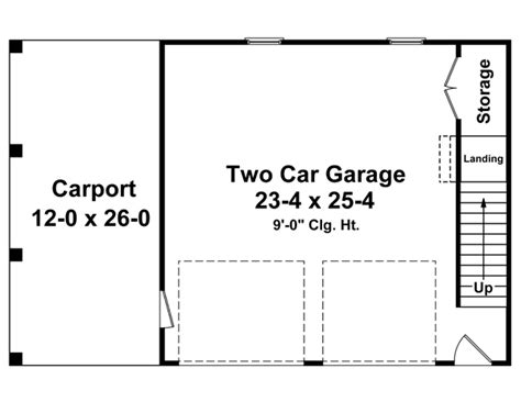 2 car garage floor plans two car garage plans 2 door 1 door at coolhouseplans com
