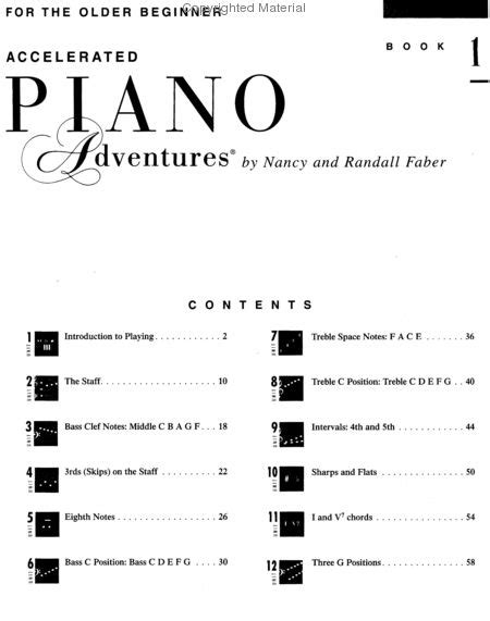 accelerated piano adventures for the beginner sheet