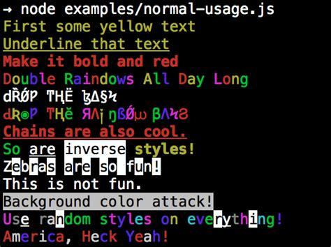 node colors class node node modules colors at master 183 caiocutrim