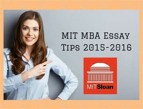 Mit Sloan Mba Application Essay by Mit Mba Essay
