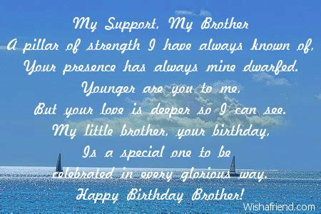 happy birthday brother wishes verses short poems for bro brother birthday poems