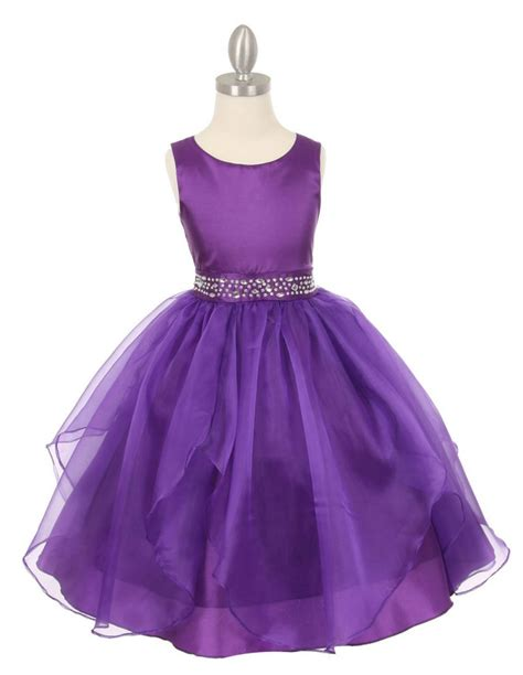 2016 Newest Purple Flower Girls Dresses With Crystal Sash Accessory Flower Girls Dresses Lovely