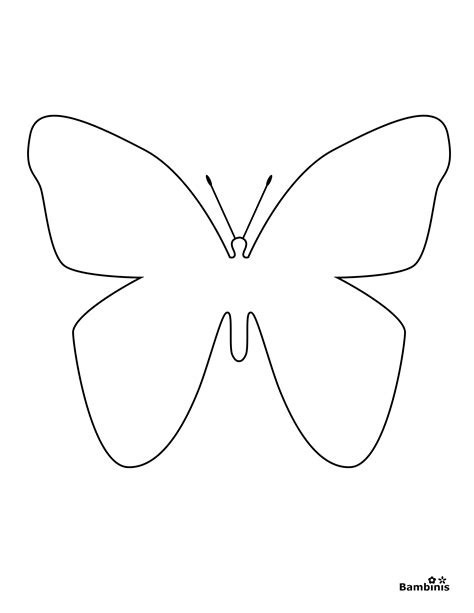 simple coloring pages of butterflies butterfly coloring page bambinis