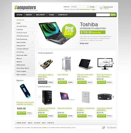 simple computers store virtuemart template