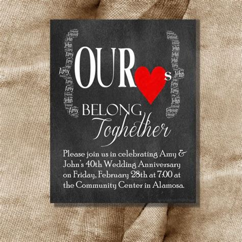printable 50th anniversary invitation kits 8 best wedding anniversary stationery images on pinterest