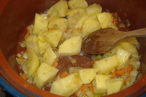 conservar patatas cortadas patatas setas y almejas italia
