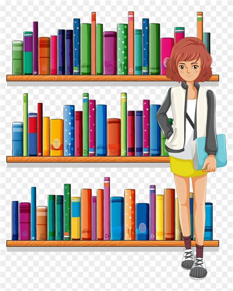 library clipart library librarian clip library bookshelf
