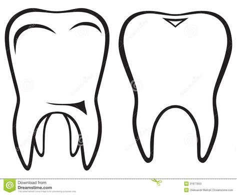 Tooth Icon Stock Vector Image Of Hygiene Cutout Icon