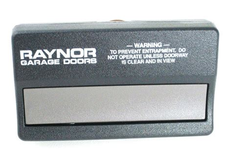 raynor garage door opener pilot parts remote not working
