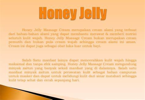 Honey Jelly Wajah pemutih wajah alami penghilang jerawat alami penghilang bekas jerawat
