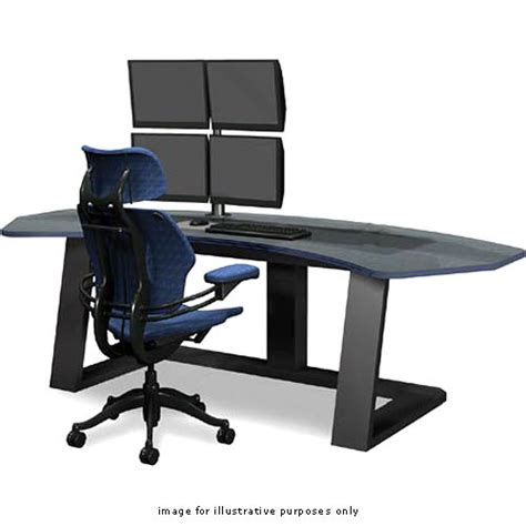 winsted digital desk with dual lcd mounts model e4656