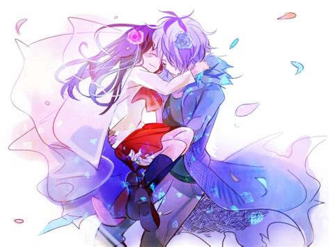wallpaper anime couple cute cute anime couple wallpaper wallpapersafari