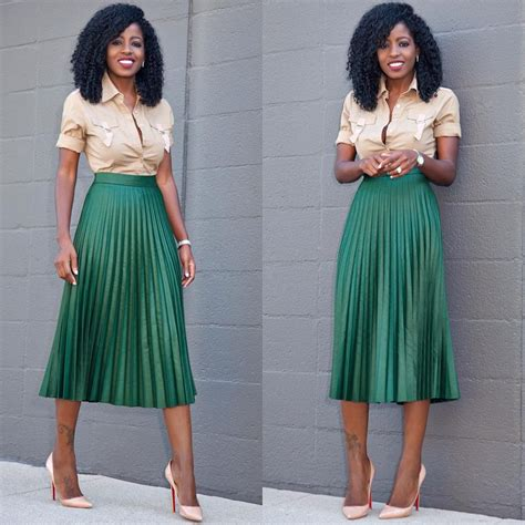 Shirt Pleated Skirt style shirt x accordion midi skirt my style