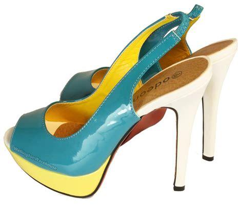 womens high heels sale womens patent peeptoe slingback high heels coral blue