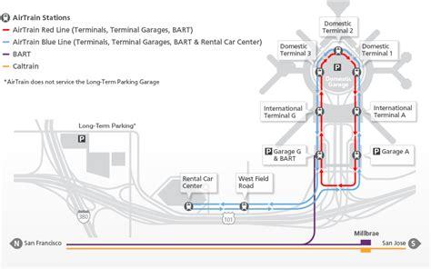 san jose international airport parking map getting around sfo san francisco international airport