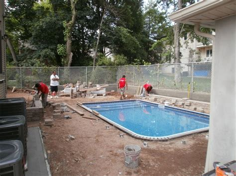 backyard inground pools landscaping staten island ny landscaping asphalt paving exterior design pool