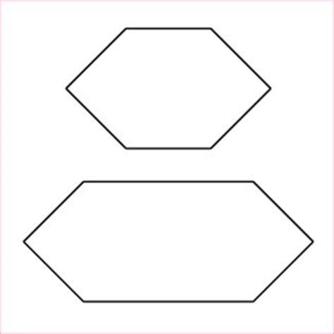 elongated 1 hexagon template