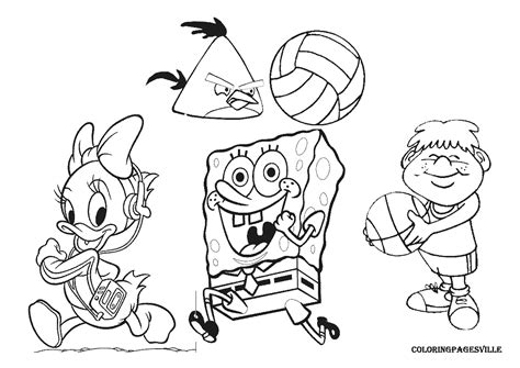 exercise free colouring pages