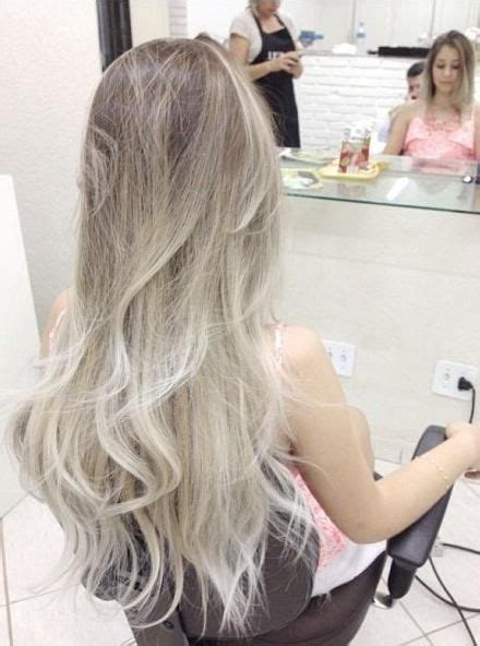 platinum and ash brown hair ash brown on top to a platinum blonde on bottom in the