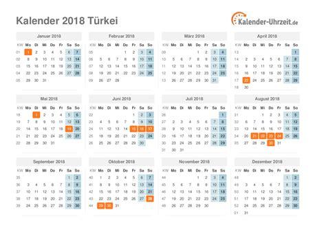 feiertage 2018 t 252 rkei kalender 220 bersicht