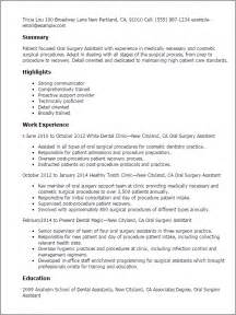 Surgeon Assistant Sle Resume by Professional Surgery Assistant Templates To Showcase Your Talent Myperfectresume