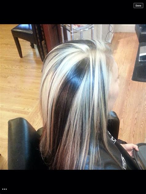 platinum highlights on dark brown hair chunky highlights dark brown and platinum my work
