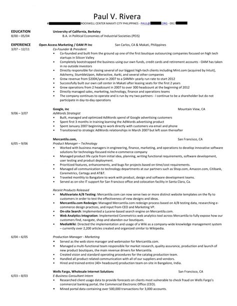 Resume Template Philippines sle resume for philippine government