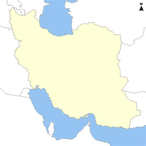 Iran Map Outline by File Iran And Neighbors Blank Map 1 770x770 Png Wikimedia Commons
