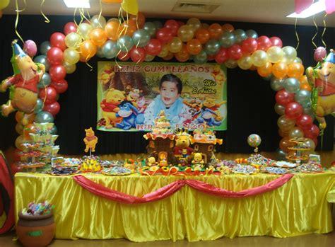 imagenes de fiestas infantiles de winnie pooh decoraci 243 n winnie pooh para fiesta infantil imagui