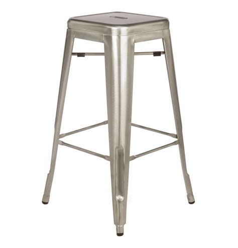 Industrial Style Metal Bar Stools | tolix style metal industrial loft cafe bar stool in gun metal