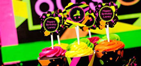 13 best images about 80s showcase decorations on pinterest kara s party ideas neon 80 s skate themed birthday party