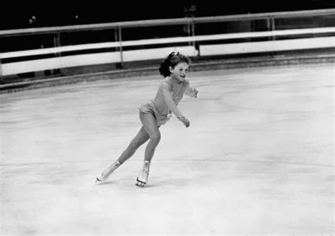 ice skaters from 70 pictures of women of the winter olympics from the 1940s