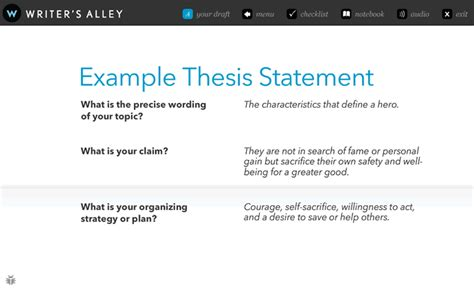 exles of strong thesis statements for research papers writer s alley interactive writing tutorial writer s alley