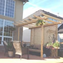 Small Pergola by I Want To Add A Small Pergola To The Wood Fence Across The