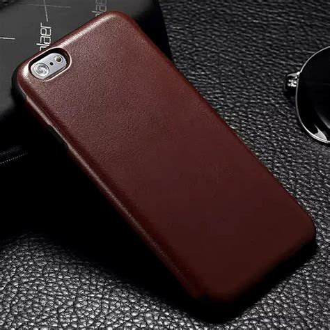 New Casing Tpu Leather Metal Bumper Iphone 6 6s new luxury tpu leather back cover for iphone 6 plus brown