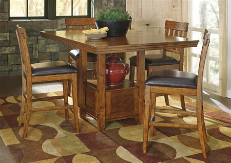 Pedestal Counter Height Table And Stools by Orleans Furniture Ralene Rectangular Counter Height