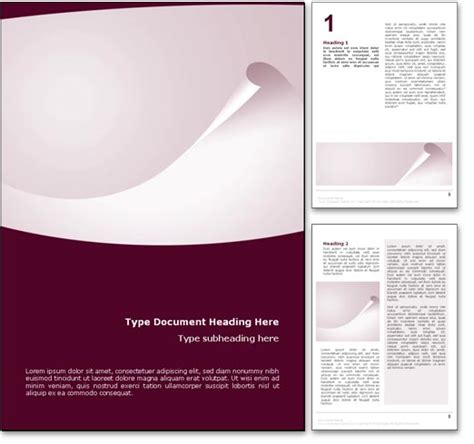 template design word document royalty free abstract curl microsoft word template in red