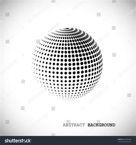 dot pattern globe abstract globe halftone background design element stock